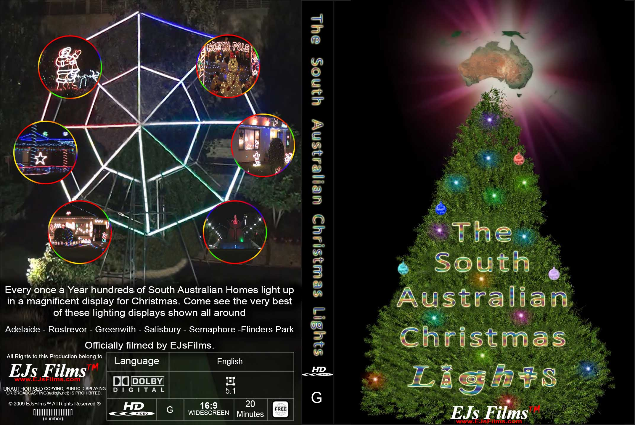 The South Australian Christmas Lights | G | Documentary | 2014 | by EJsFilms.com -